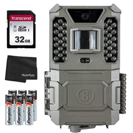 Bushnell Core Prime - Cámara de vigilancia (24 MP, bajo brillo, 119932C, tarjeta SD de 32 GB, 8 pilas AA y gamuza limpiadora)