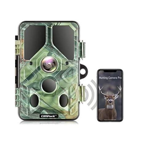 Campark WiFi Bluetooth Trail Cámara 20MP 1296P con 940nm